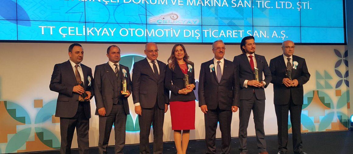 İhracatın Metalik Yıldızı Ödülünü Aldık